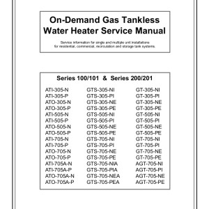 A.O. Smith Tankless Water Heater Service Manual 03