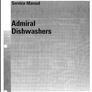 Admiral Dishwashers Service Manual 1