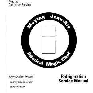 Admiral Refrigerator Service Manual 2