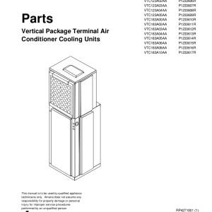 Amana Air Conditioner Parts Manual 04