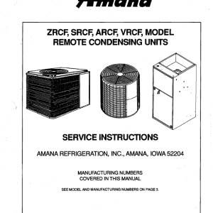 Amana Air Conditioner Service Manual 01