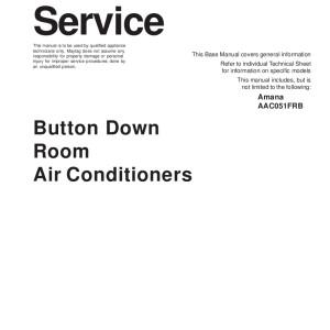 Amana Air Conditioner Service Manual 13