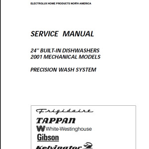 Amana Dishwasher Service Manual 01
