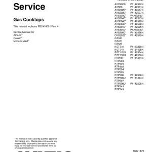 Amana Food Warmer Service Manual 07