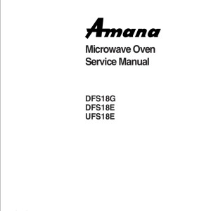 Amana Microwave Oven Service Manual 22