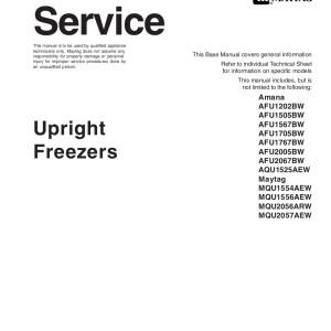 Amana Refrigerator Service Manual 15