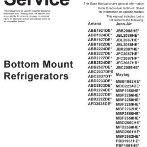 Amana Refrigerator Service Manual 2