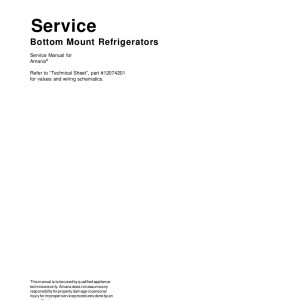 Amana Refrigerator Service Manual 20