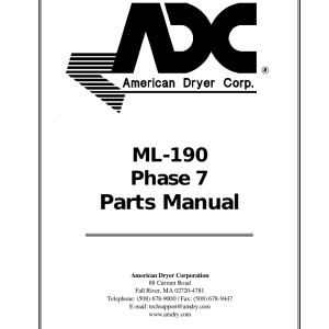 American Dryer Corp Parts Manual 07
