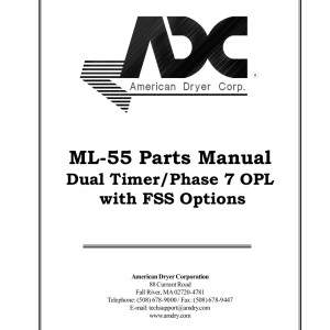 American Dryer Corp Parts Manual 10