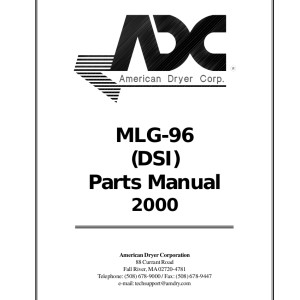 American Dryer Corp Parts Manual 11