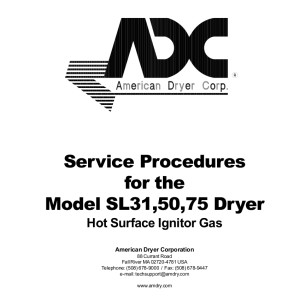 American Dryer Corp Service Manual 01