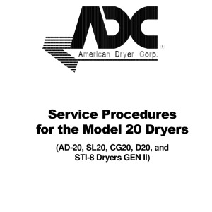 American Dryer Corp Service Manual 02