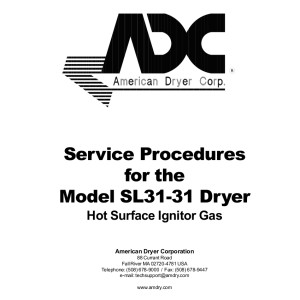American Dryer Corp Service Manual 04