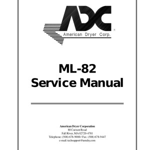 American Dryer Corp Service Manual 06