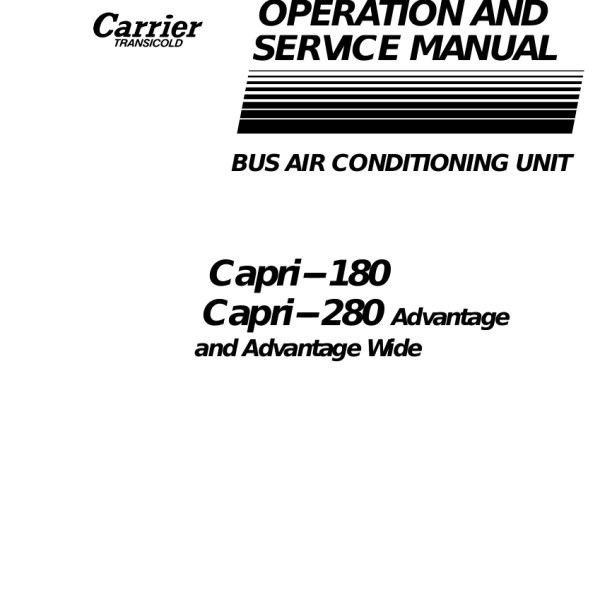 Carrier Transicold service Manuals