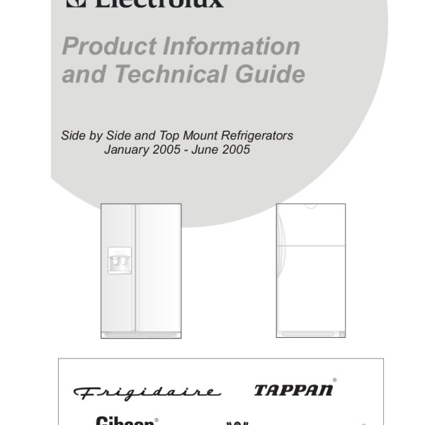step right up appliance service manuals rh new2 steprightupmanuals com electrolux side by side refrigerator parts electrolux side by side refrigerator service manual