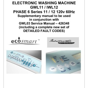 Fisher & Paykel Washer Service Manual 10