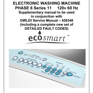 Fisher & Paykel Washer Service Manual 11