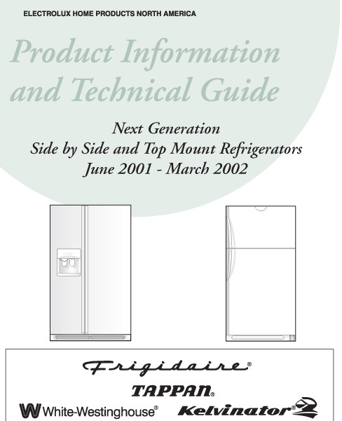 step right up appliance service manuals rh new2 steprightupmanuals com Frigidaire Refrigerator Model Numbers frigidaire gallery owners manual refrigerator