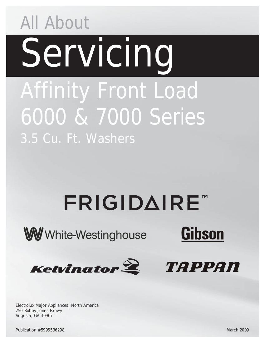 step right up appliance service manuals rh new2 steprightupmanuals com frigidaire washer repair manual pdf frigidaire affinity front load washer service manual