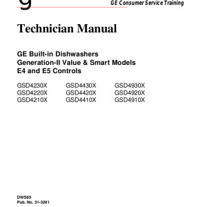 ge dishwasher service manual for models gsd4230x gsd4430x gsd4930x gsd4220x gsd4420x gsd4920x gsd4210x gsd4410x gsd4910x
