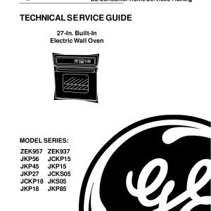 Ge profile Jkp56 Manual