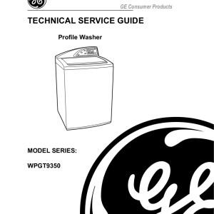 ge washing machine service manual