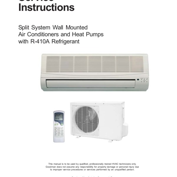 step right up appliance service manuals rh new2 steprightupmanuals com goodman split air conditioner manual goodman ductless air conditioner manual