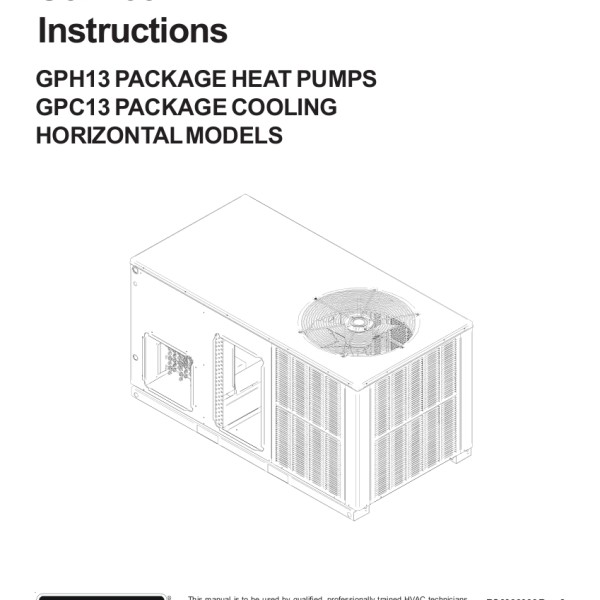 step right up appliance service manuals rh new2 steprightupmanuals com Goodman Heat Pump Package Unit Electric Heat Pump