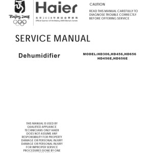 step right up appliance service manuals rh new2 steprightupmanuals com Model Manual Hyer Dehumidifier 45Ea-L Haier Dehumidifier HD456E