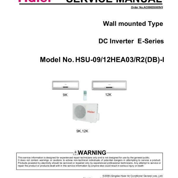 step right up appliance service manuals rh new2 steprightupmanuals com Haier Service Manual owners manual for haier room air conditioner