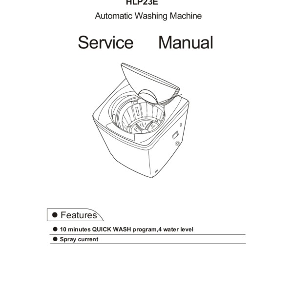 step right up appliance service manuals rh new2 steprightupmanuals com Haier Portable Washer Newest Haier Washer