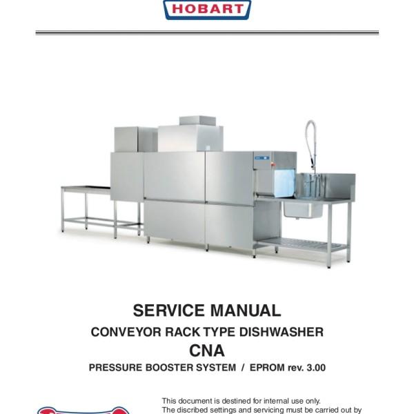 Hobart Dishwasher Service Manual for Models CNA-E, CNA-L, CNA-S, CNA-C,  CNAE, CNAL, CNAS, CNAC