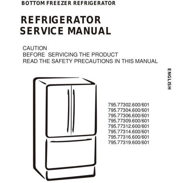 step right up appliance service manuals rh new2 steprightupmanuals com Sears Kenmore Refrigerator Model 106 Kenmore Refrigerator Model Number 795