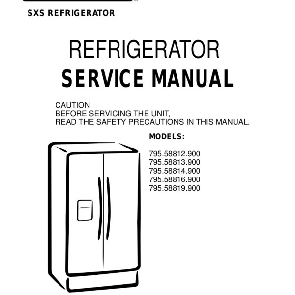 step right up appliance service manuals rh new2 steprightupmanuals com Kenmore Refrigerator Model Number Location Kenmore Refrigerator Model Number Location