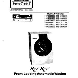 kenmore elite model 596 manual