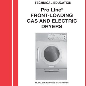 KitchenAid Dryer Service Manual For Models KHEV01, KHGV01