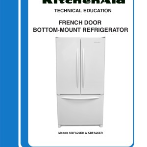 kitchenaid models kbfa20er and kbfa25er refrigerator service manual
