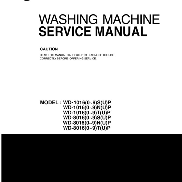 manual for lg washing machine