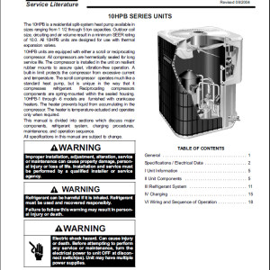 Lennox 10acc Service Manual