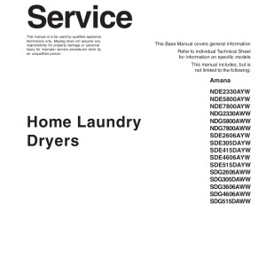 step right up appliance service manuals rh new2 steprightupmanuals com maytag commercial dryer service manual maytag bravos dryer service manual