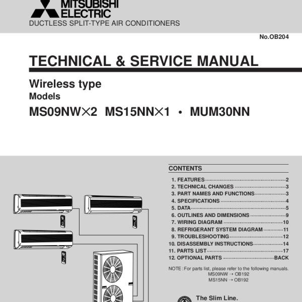Mitsubishi Ductles Split Wiring Diagram
