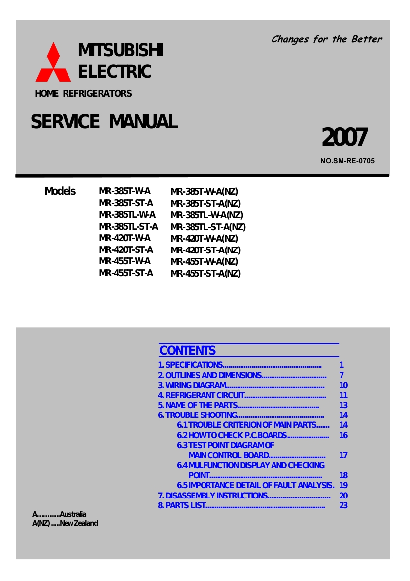 Step Right Up Appliance Service ManualsStep Right Up Appliance Service Manuals