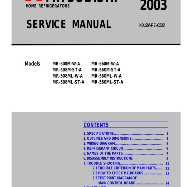 step right up appliance service manuals rh new2 steprightupmanuals com 2001 Mitsubishi Galant Wiring-Diagram Mitsubishi Mini Split System Wiring Diagram