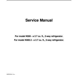 Step right up appliance service manuals norcold models n300 and n300 3 refrigerator service manual sciox Choice Image