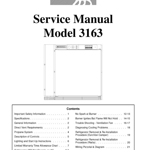 Step right up appliance service manuals norcold model 3163 refrigerator service manual sciox Choice Image