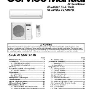 Panasonic air conditioner manual