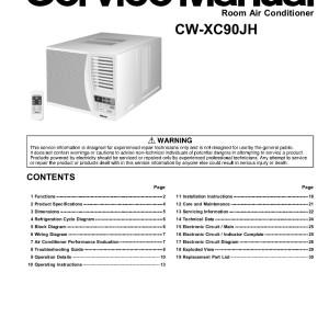 panasonic air conditioner service manual