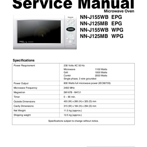 countertop convection oven wiring diagram panasonic microwave service manual     bestmicrowave  panasonic microwave service manual     bestmicrowave